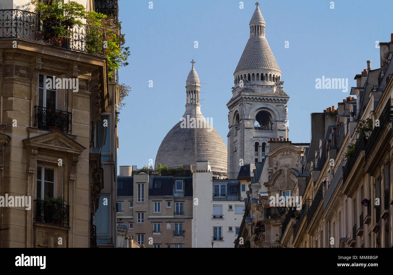 The basilica Sacre Coeur, Paris, France. - Stock Image