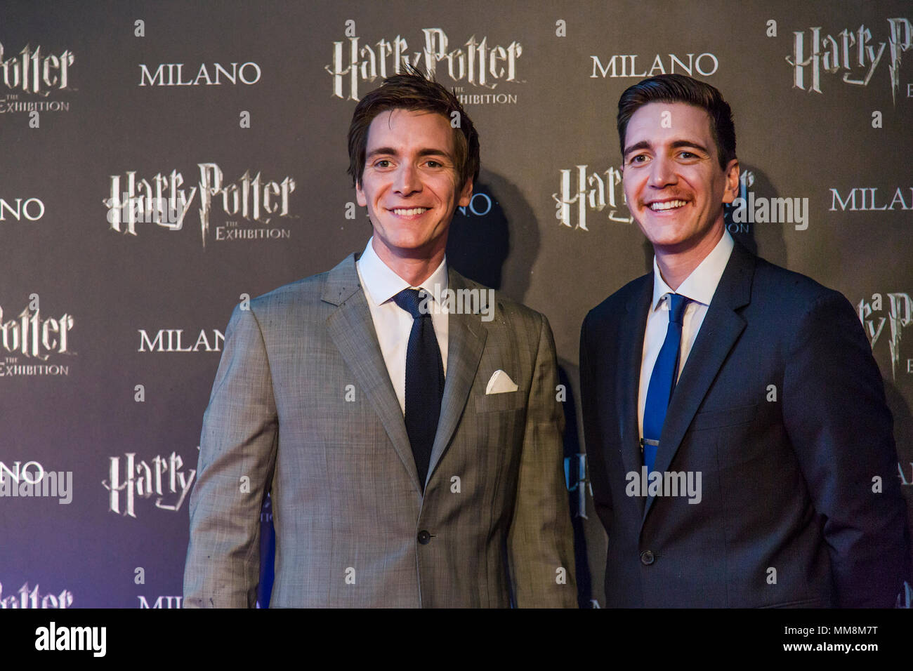 Milan, Italy  09th May, 2018  James and Oliver Phelps, the