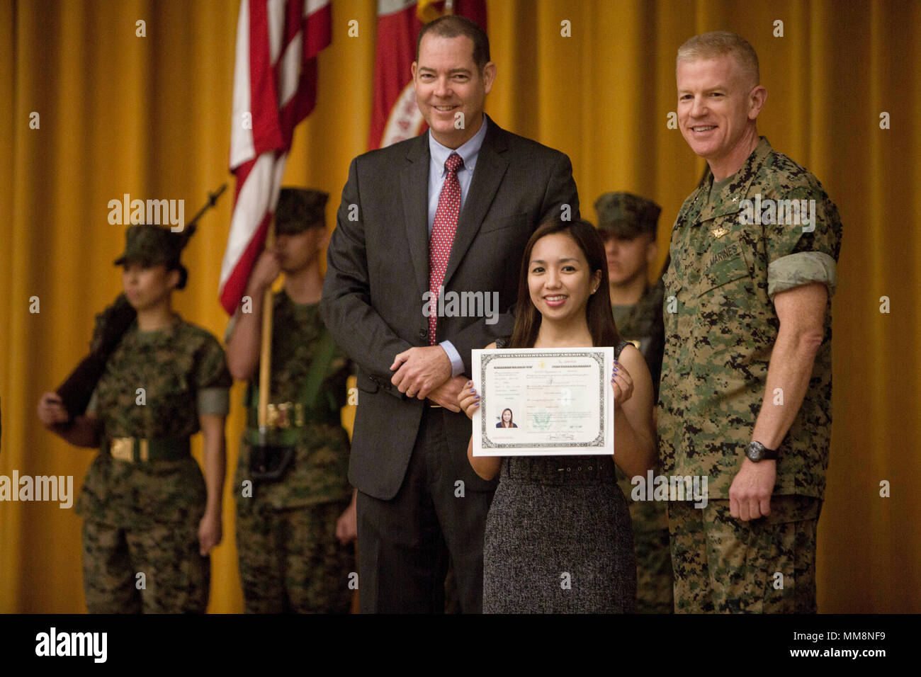 Irish Capili A Native From The Philippines Receives Her Us