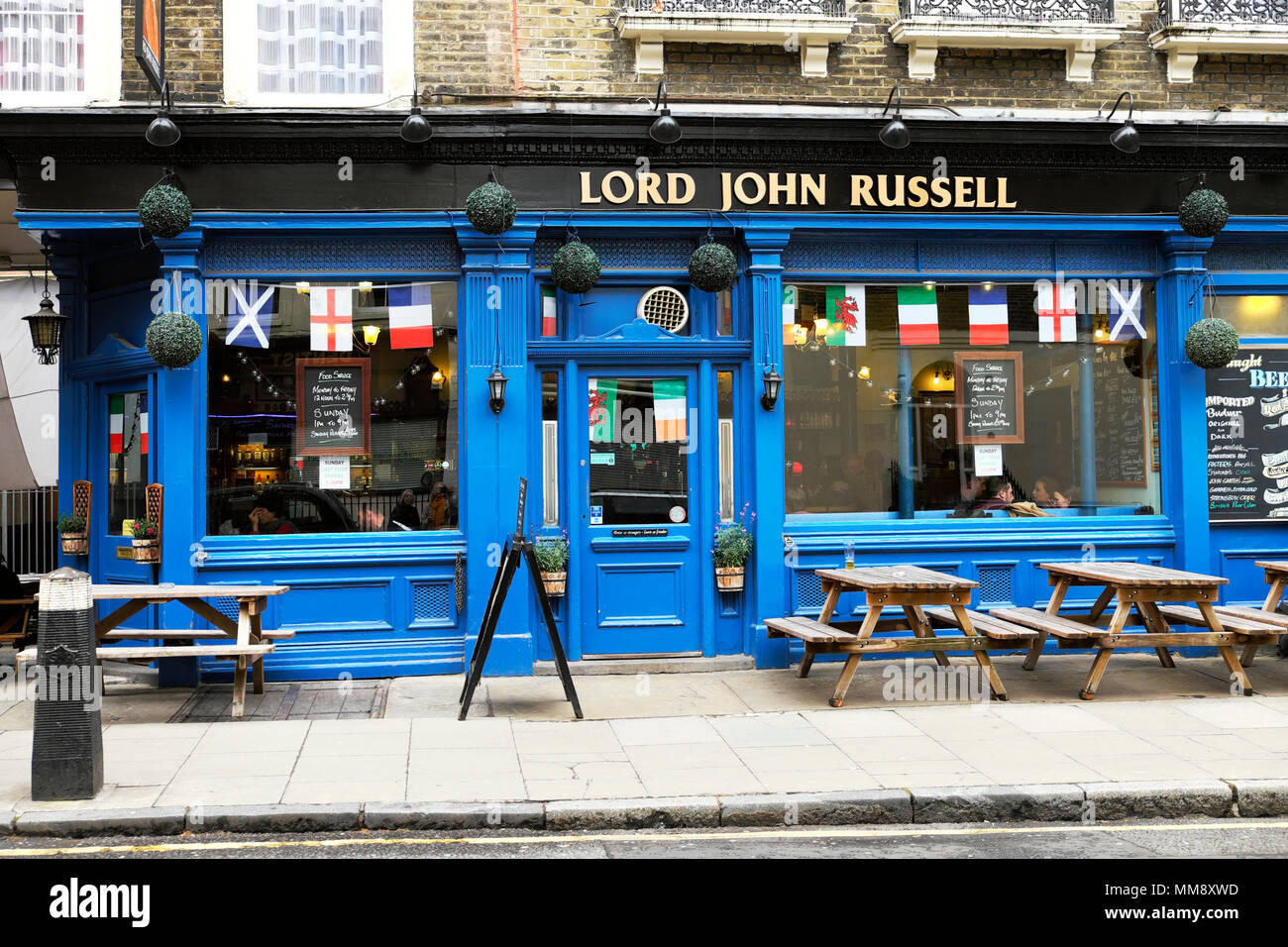 Exterior view of Lord John Russell pub on Marchmont Street in London WC1 England UK    KATHY DEWITT - Stock Image