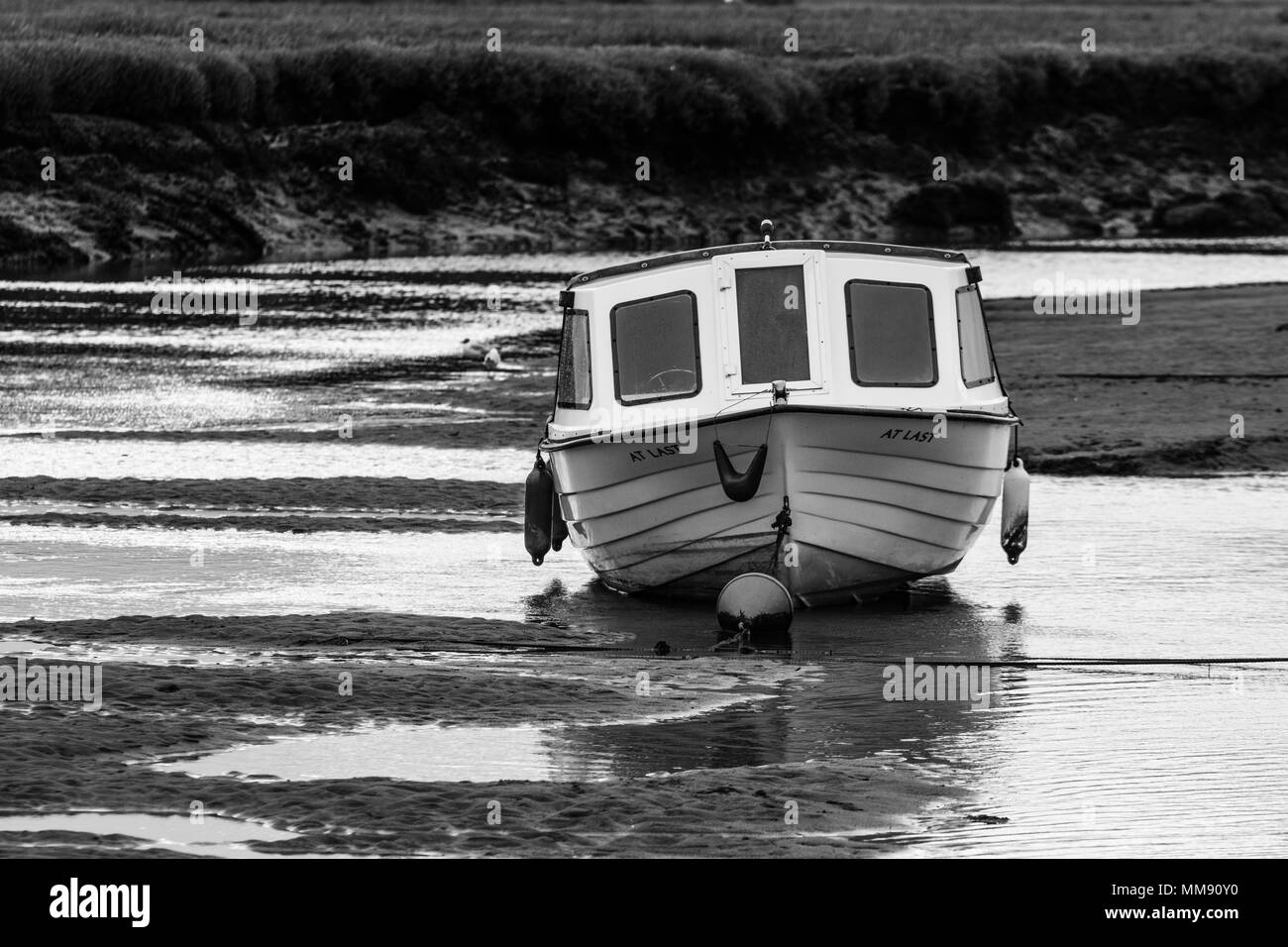 Low Tide at Blakeney - Stock Image