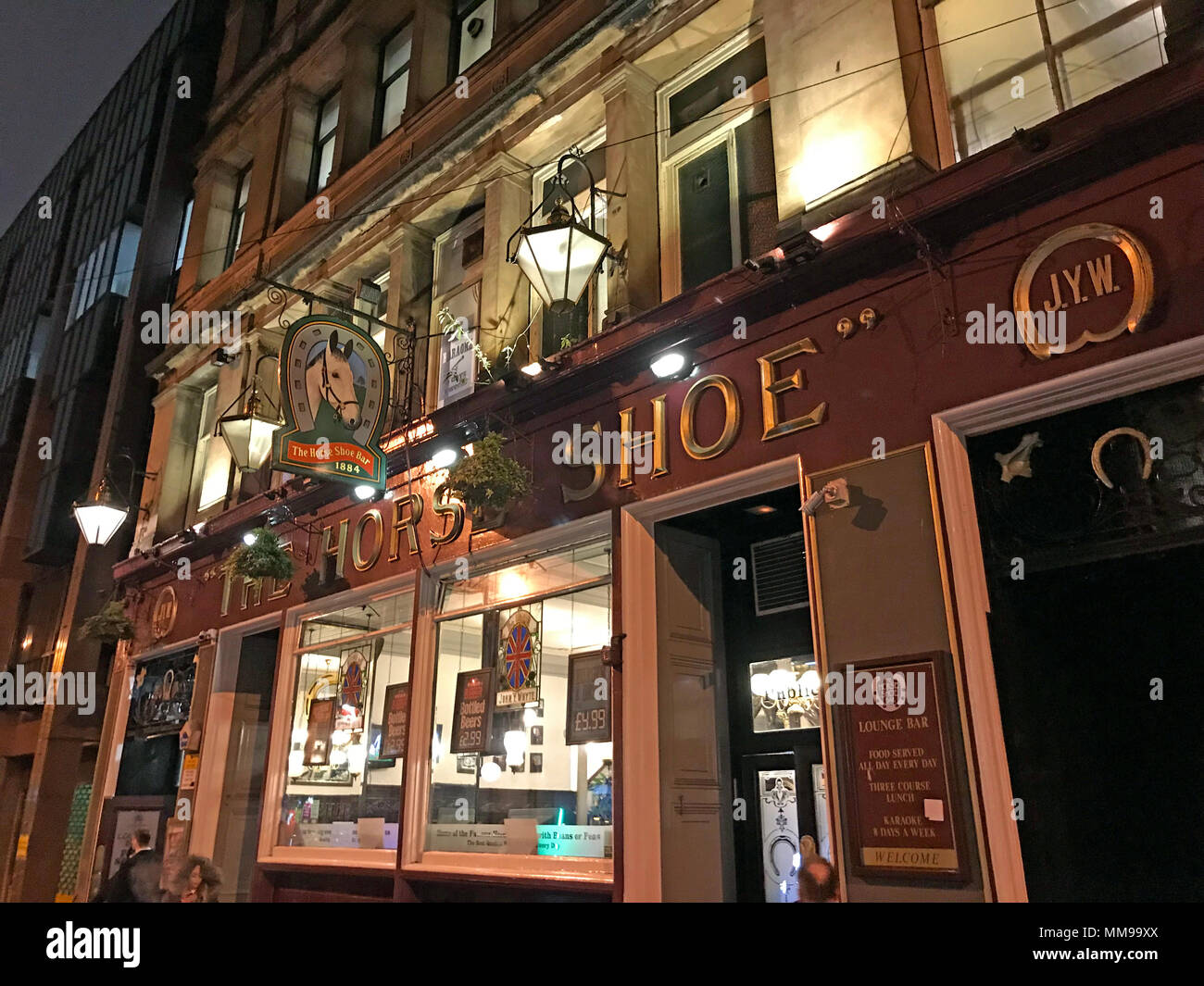 The Horse Shoe Bar, 24 Drury St, Glasgow, Scotland UK - Stock Image