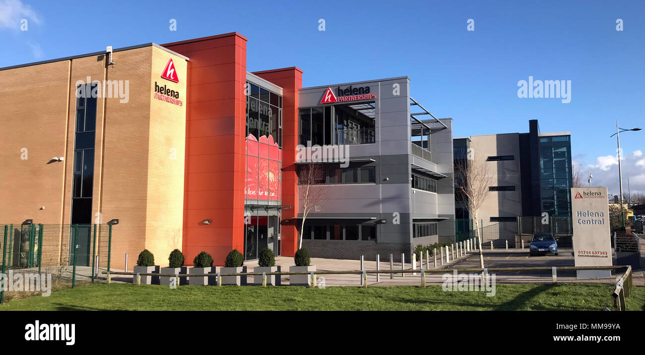Helena Central office building panorama, Torus Housing Group, St Helens, Merseyside, England, UK - Stock Image