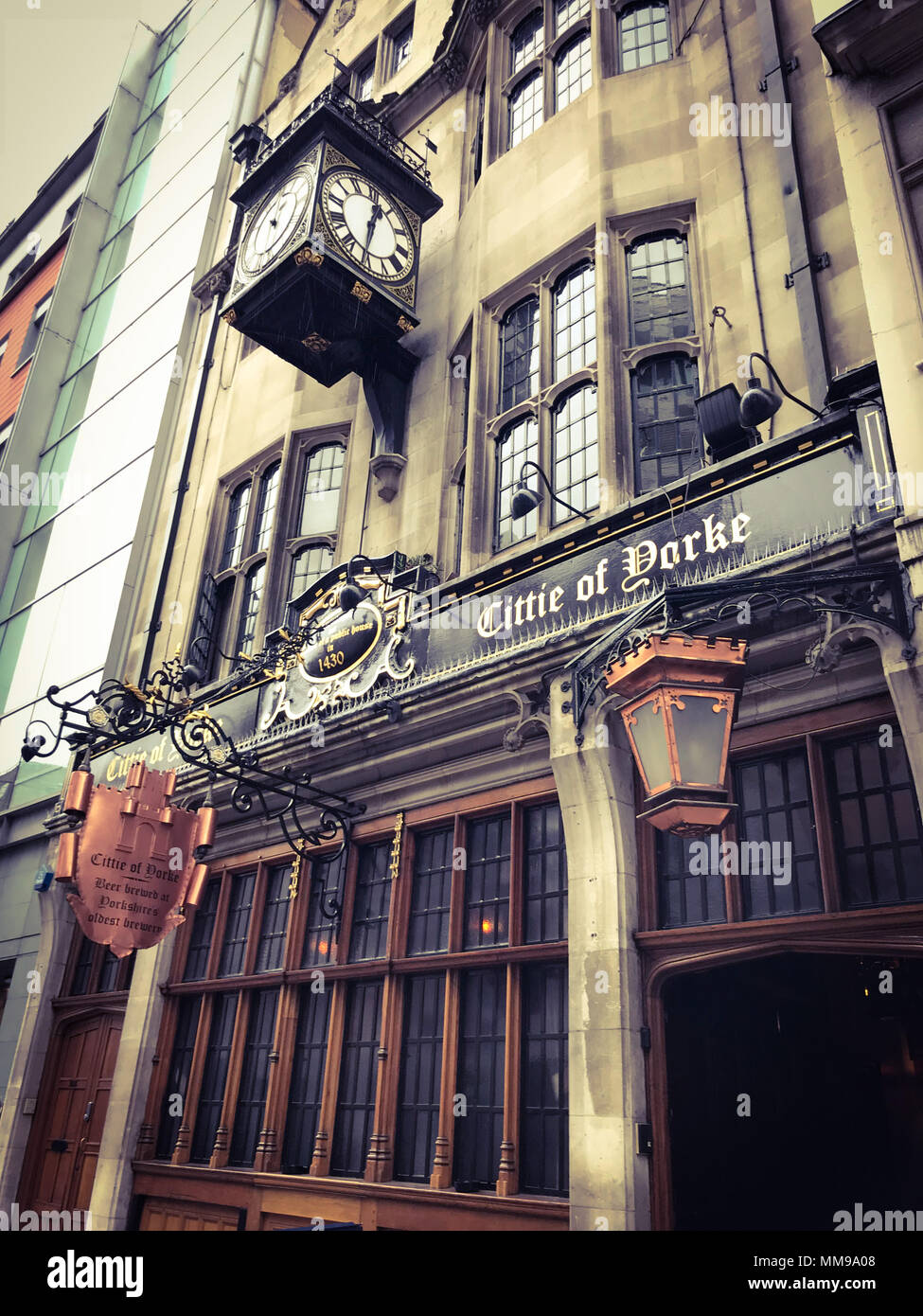 Citte Of Yorke Pub, Chancelry Lane, Holborn, London, England, UK - Stock Image