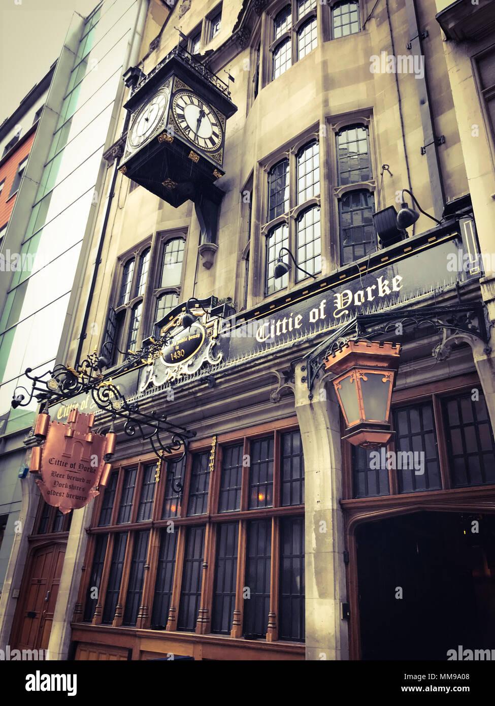 Citte Of Yorke Pub, Chancelry Lane, Holborn, London, England, UK Stock Photo