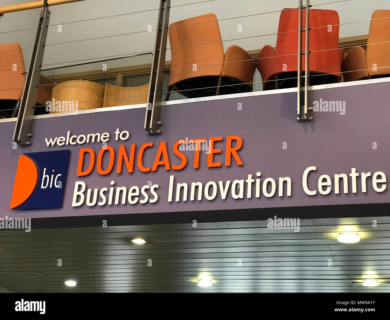 Doncaster BIC Business Innovation Centre, South Yorkshire, Ten Pound Walk, Doncaster DN4 5HX , England - Stock Image