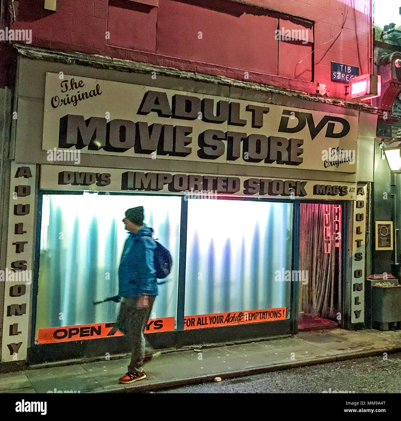 Adult DVD Movie Store, Tib Street Manchester, Lancs, England, UK Stock Photo