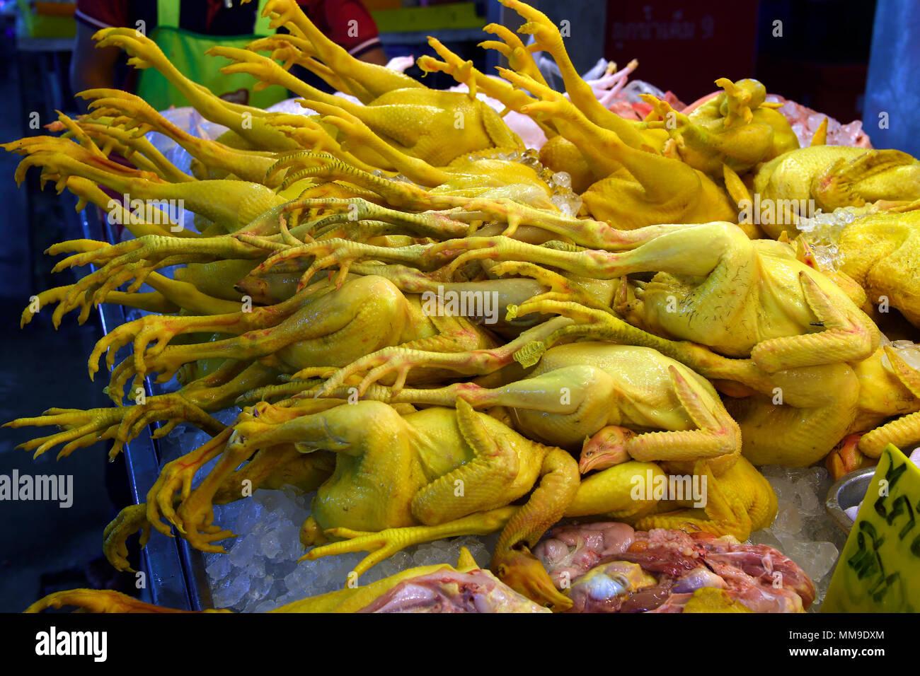 Fresh Chickens at Banzaan Fresh Market, Patong Beach, Phuket, Thailand - Stock Image