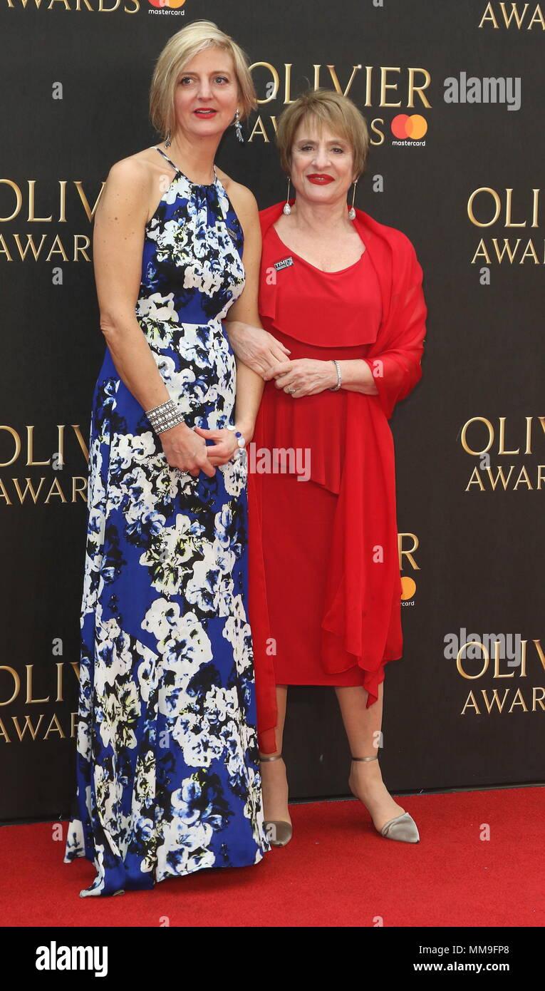 Olivier Awards 2018 at the Royal Albert Hall, London  Featuring: Marianne Elliott, Patti LuPone Where: London, United Kingdom When: 08 Apr 2018 Credit: WENN.com - Stock Image