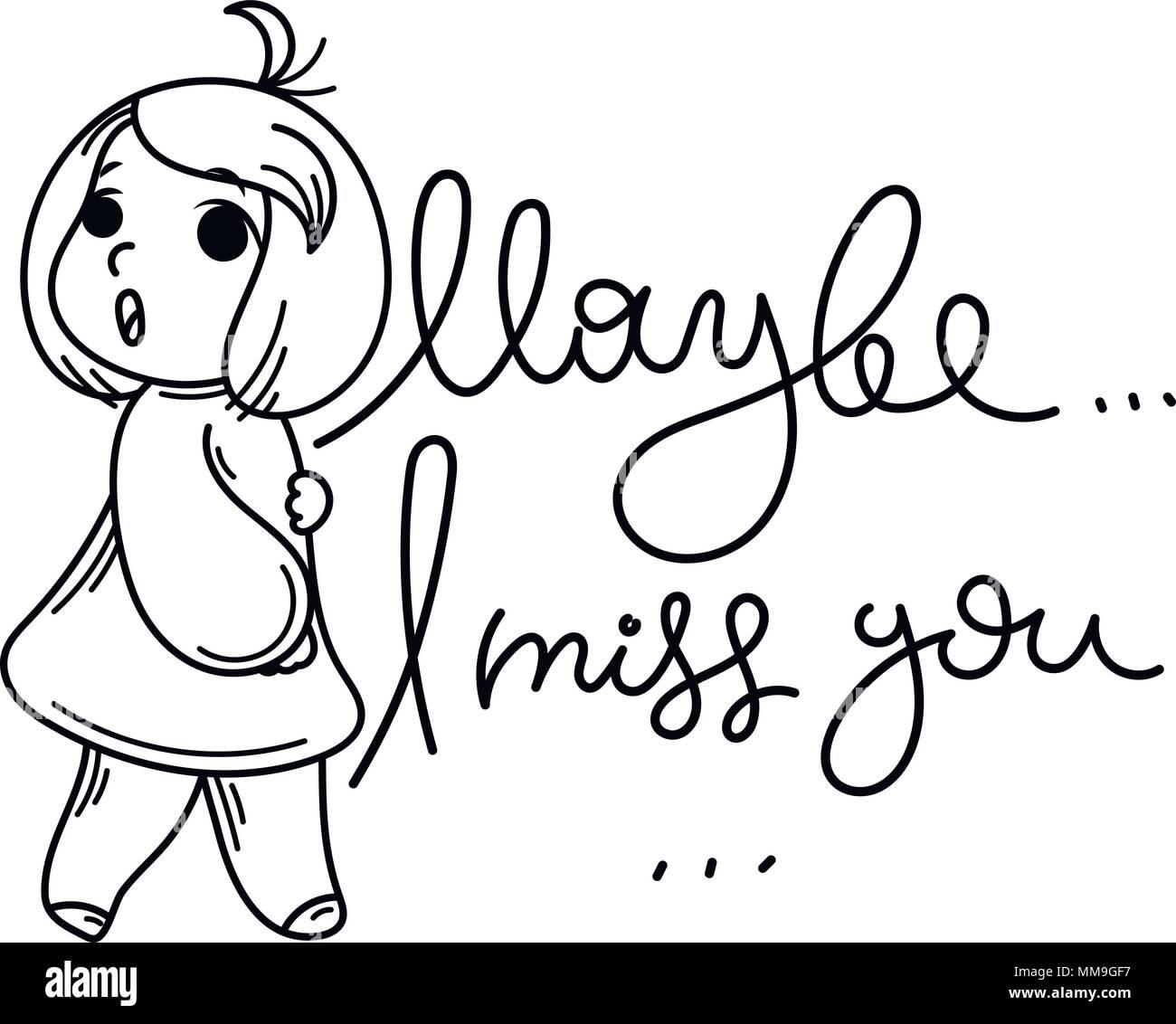 i miss u cute