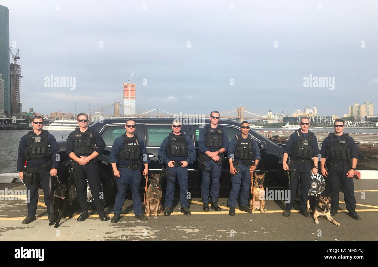 Coast Guard members of Maritime Safety and Security Teams New York and  Houston conduct explosives detection operations with canines Cappy 2e8e4810b69