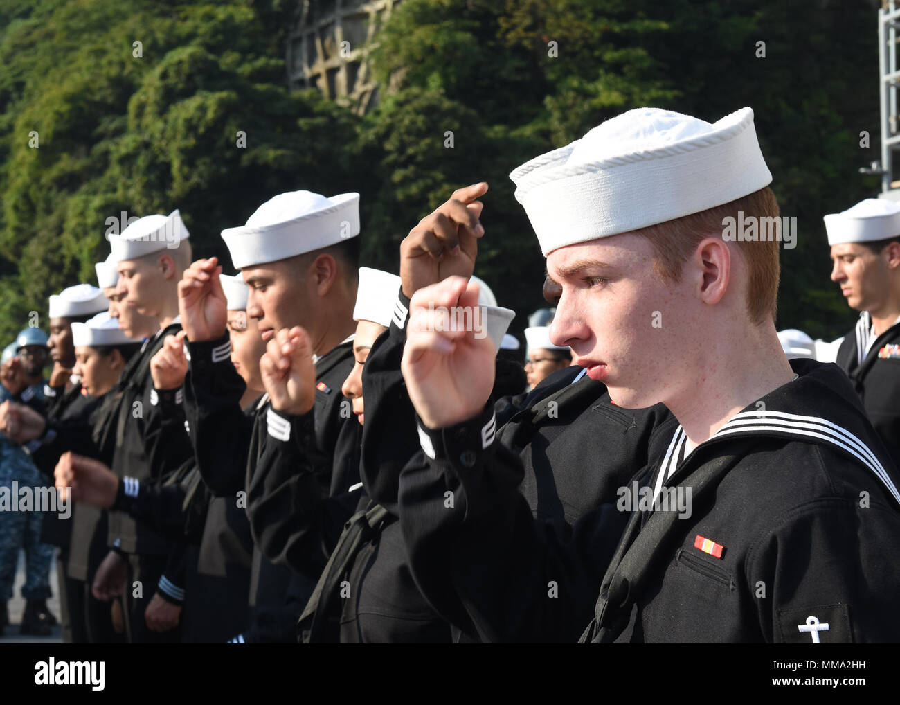 Dress Blues Inspection Stock Photos & Dress Blues Inspection
