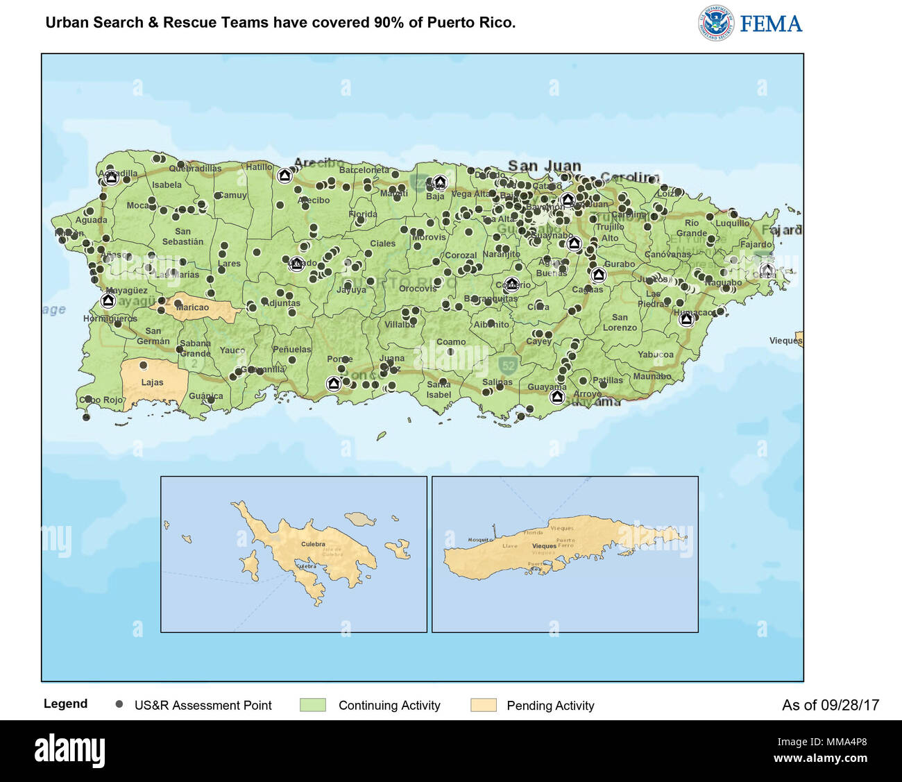 A Map Showing Areas That FEMA Urban Search Rescue Teams Have - Fema map search