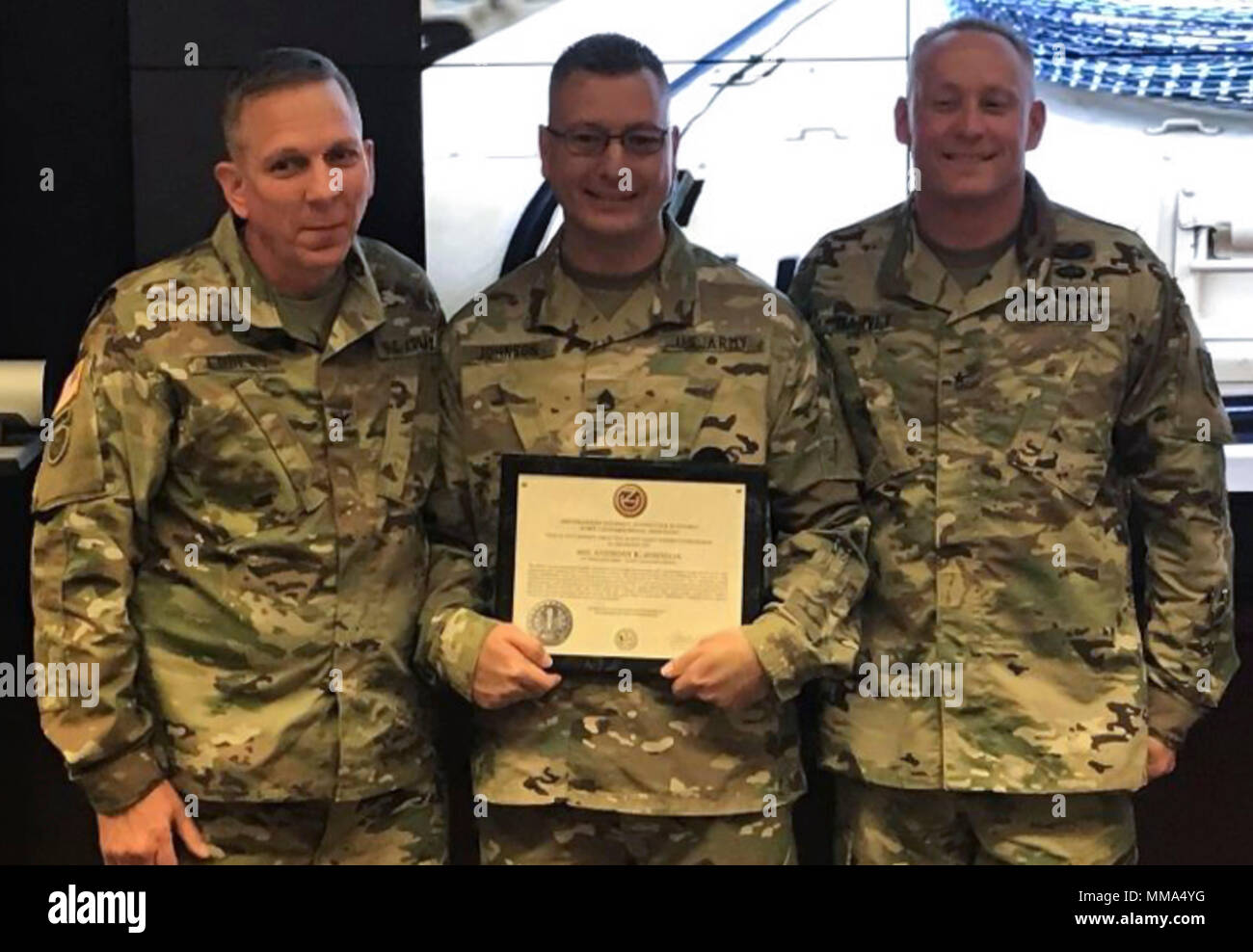 Staff Sgt  Anthony Johnson (middle), a U S  Army Reserve