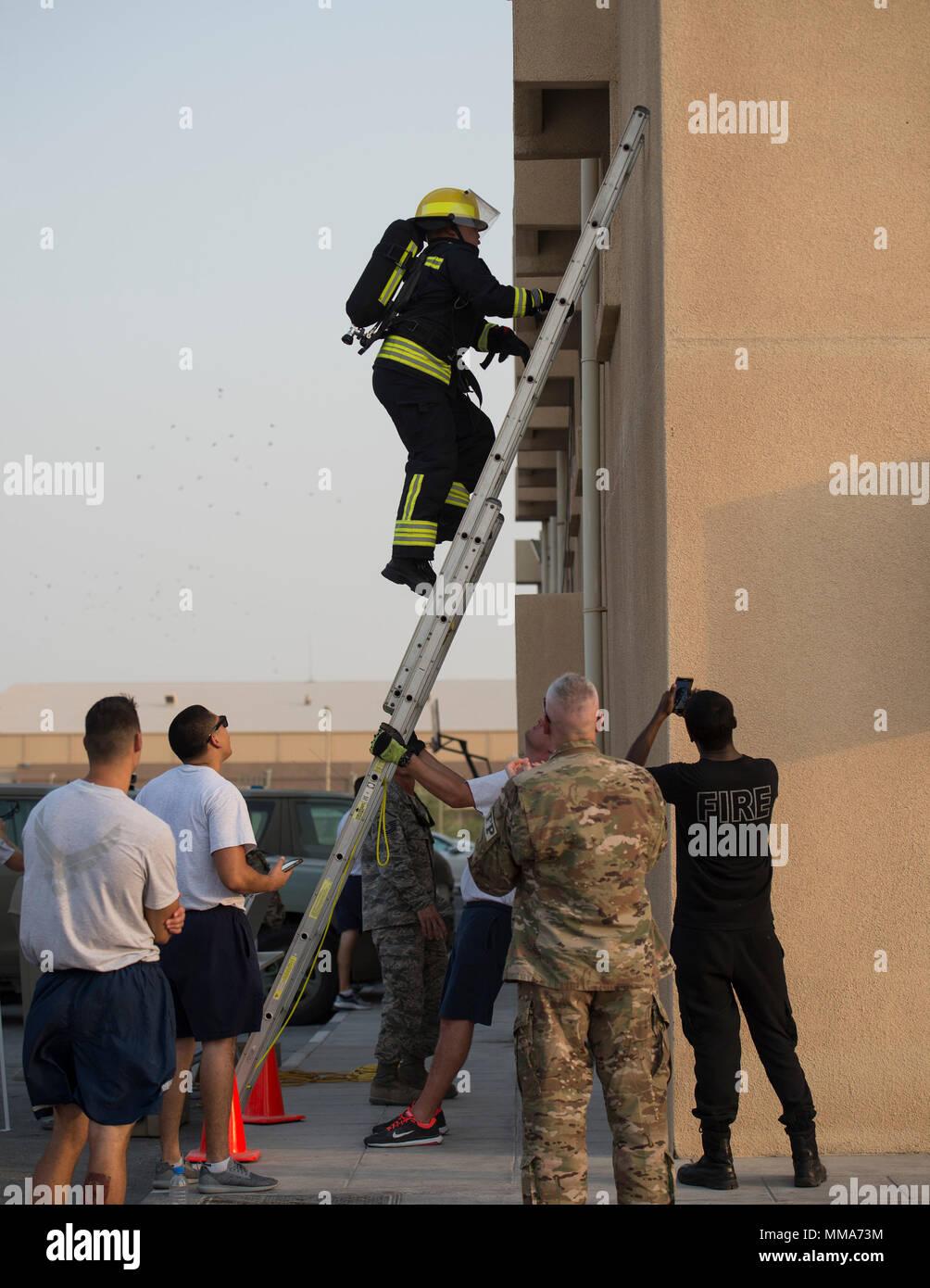 Qatar Emiri Air Force Fire Department Stock Photos & Qatar