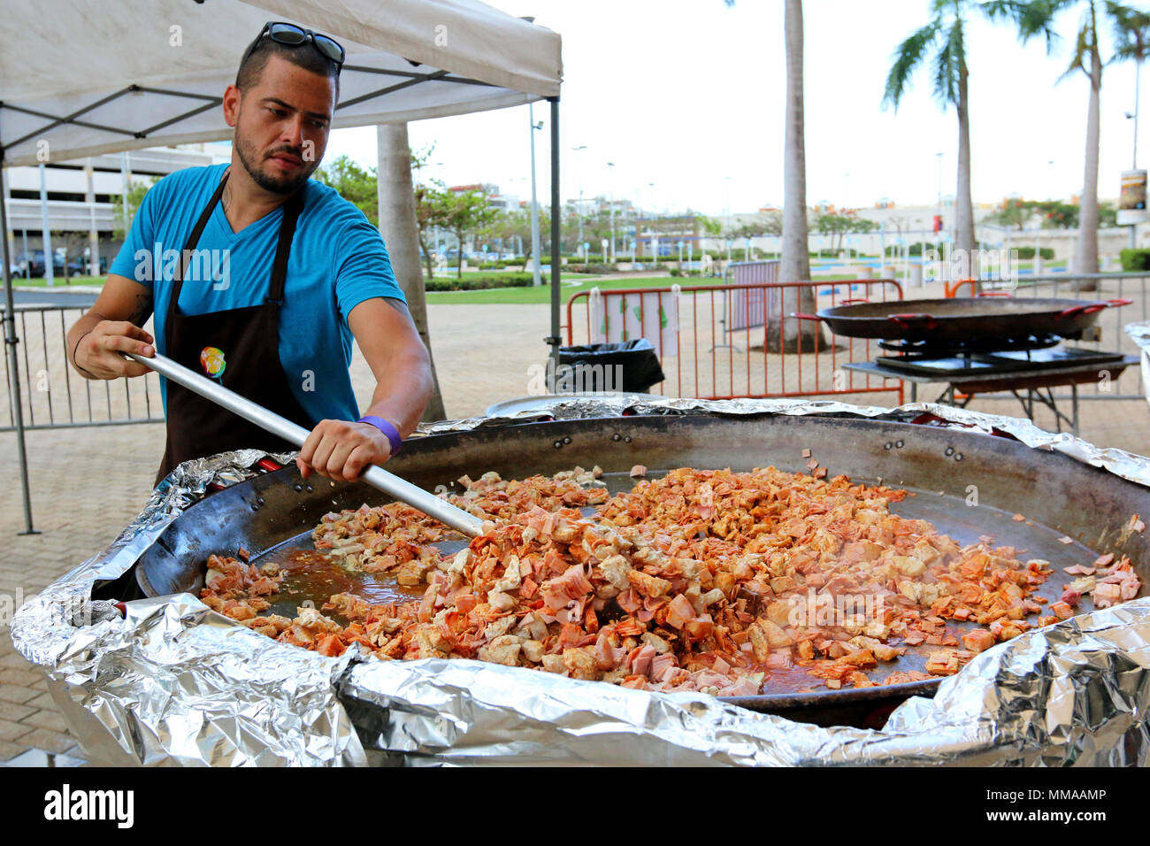alejandro torres a native of san juan puerto rico and chef volunteering with the non profit organization world central kitchen prepares food for - World Central Kitchen