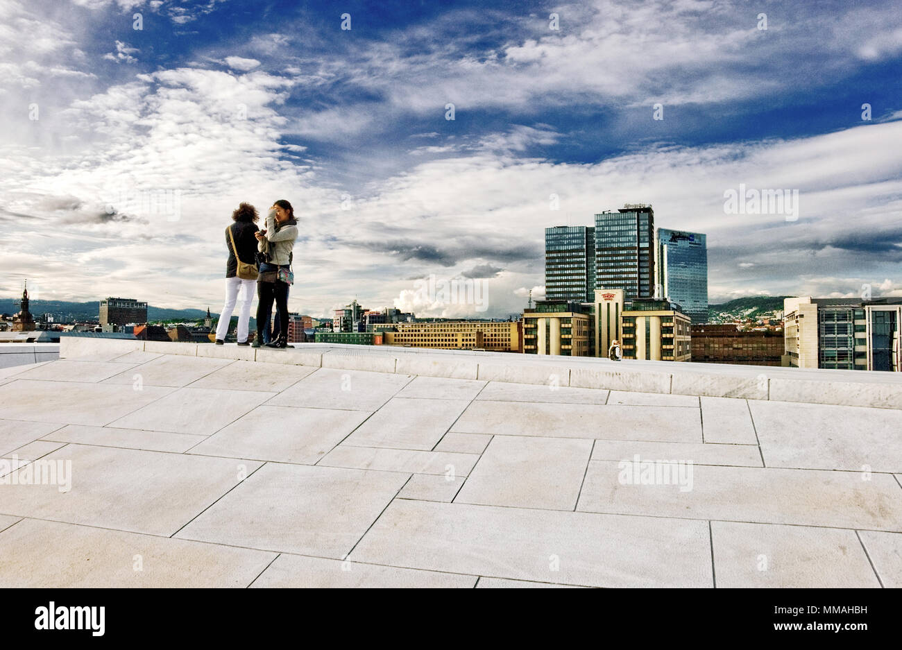 Norway - Oslo, Opera House area Stock Photo