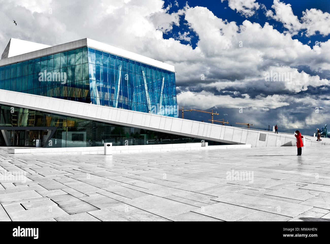 Norway - Oslo, Opera House area - Stock Image