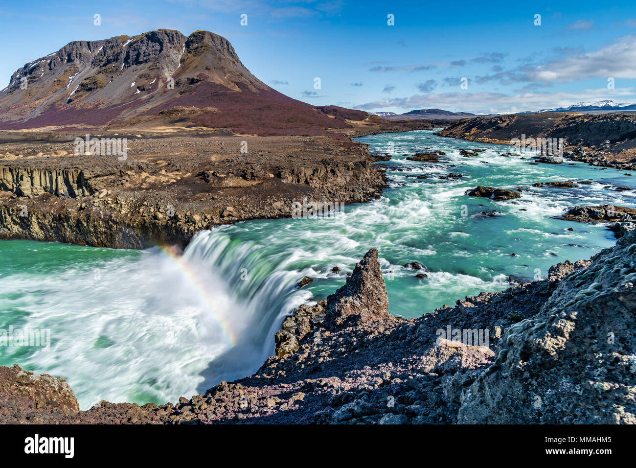 Thieves Waterfall, Iceland - Stock Image