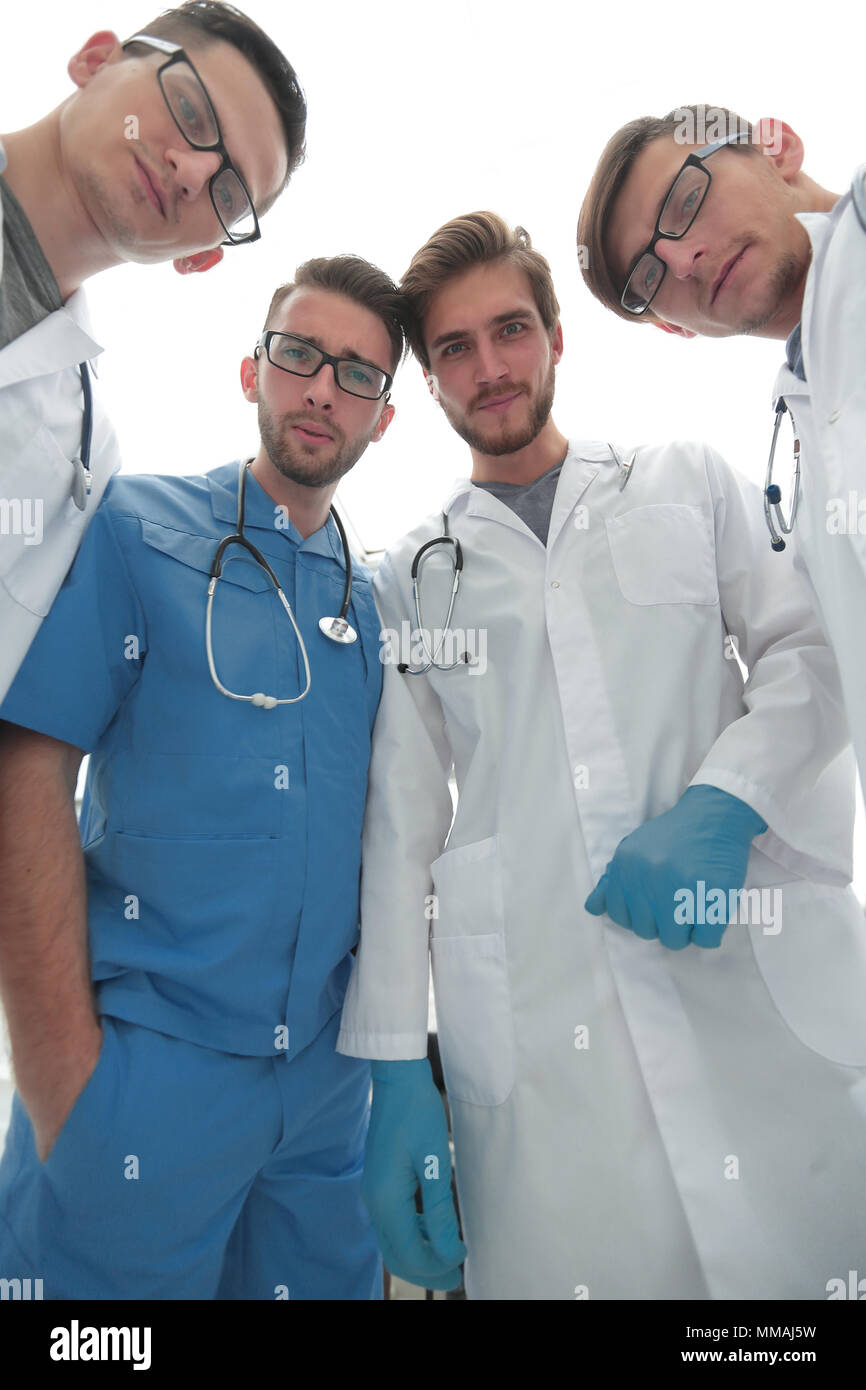 closeup.professional team of doctors. - Stock Image
