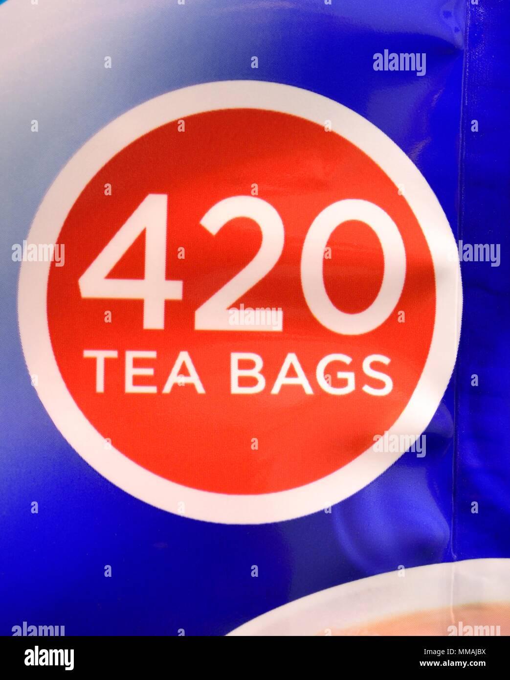Tetley tea bags 420 pack - Stock Image