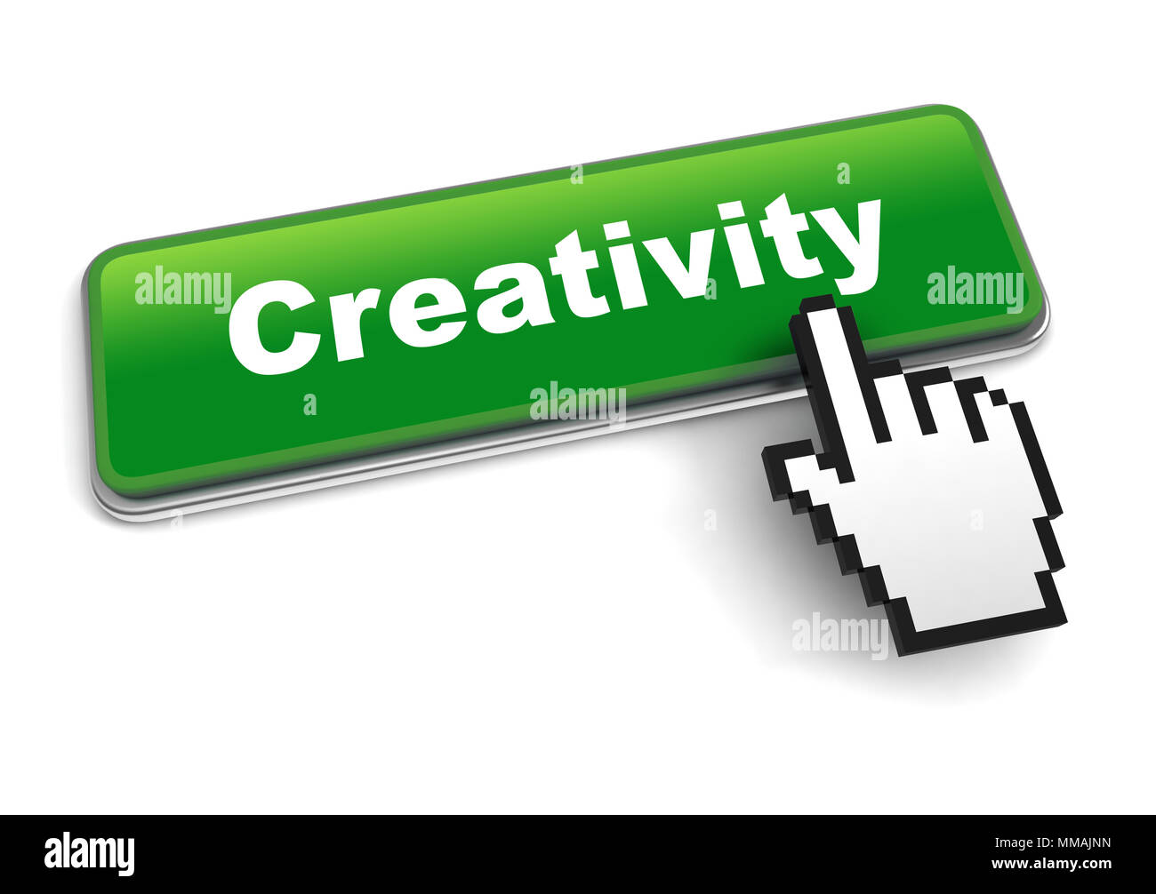 creativity concept 3d illustration isolated - Stock Image