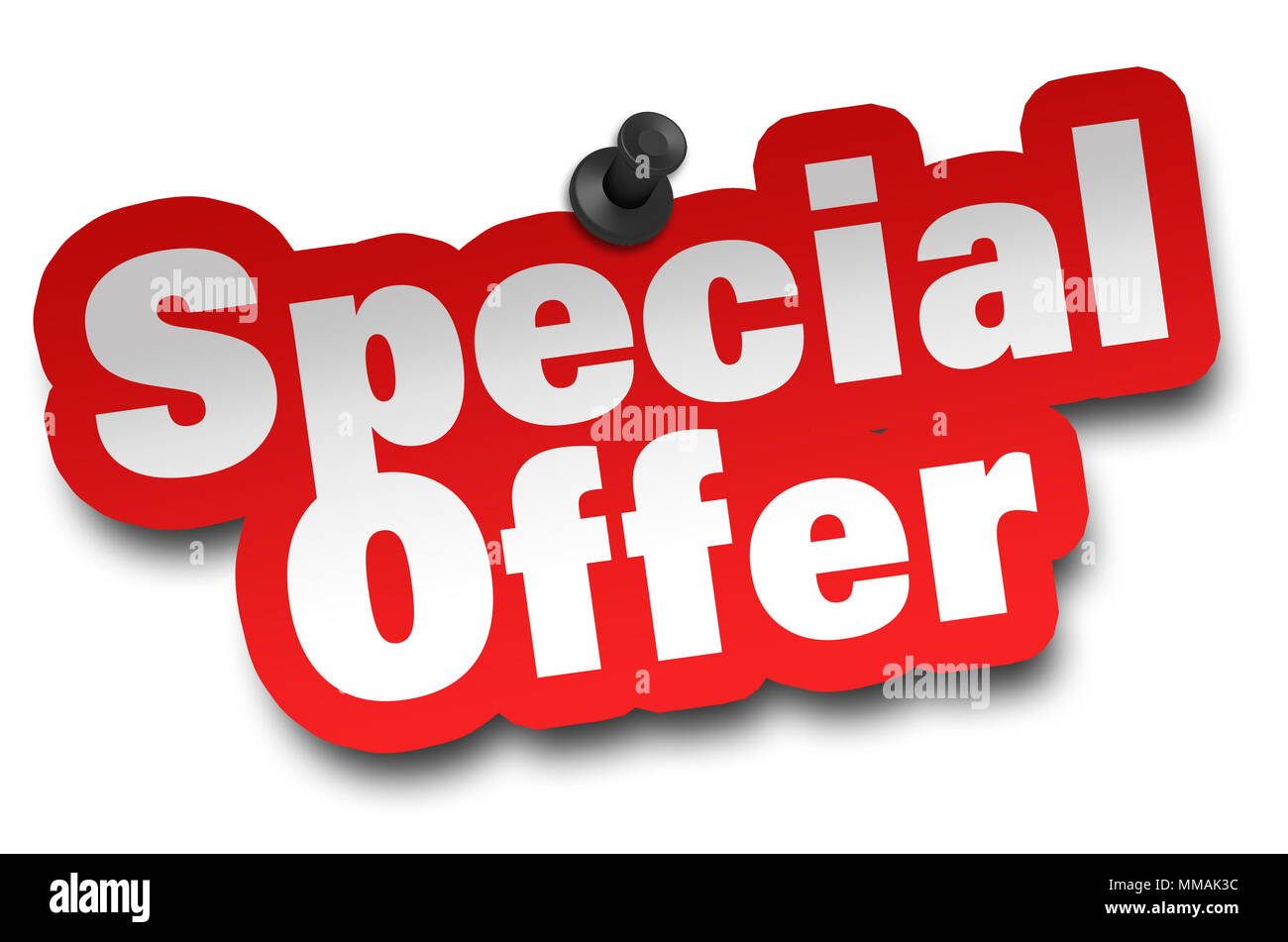 Special Offer Concept 3d Illustration Isolated Stock Photo Alamy