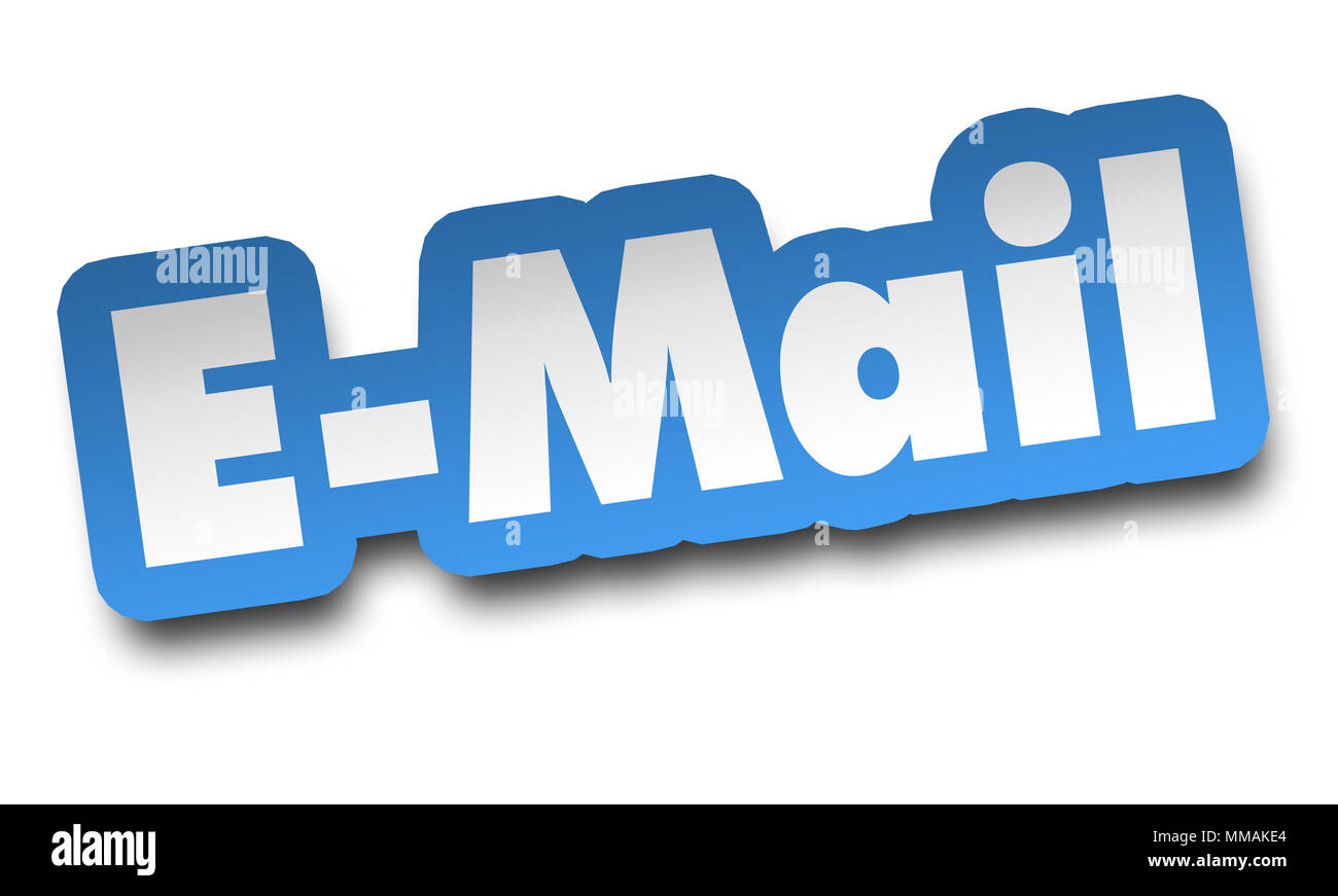 e mail concept 3d illustration isolated - Stock Image
