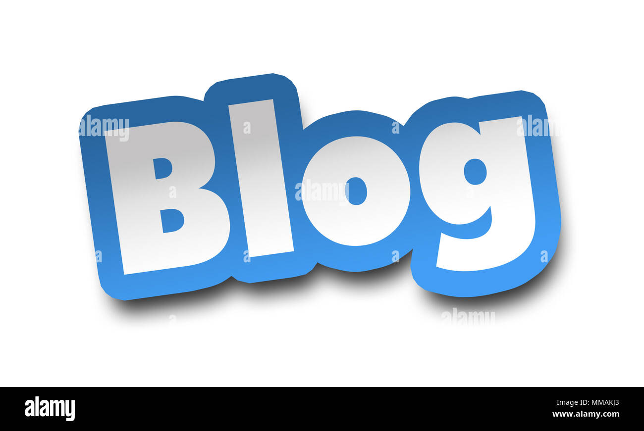 blog concept 3d illustration isolated - Stock Image
