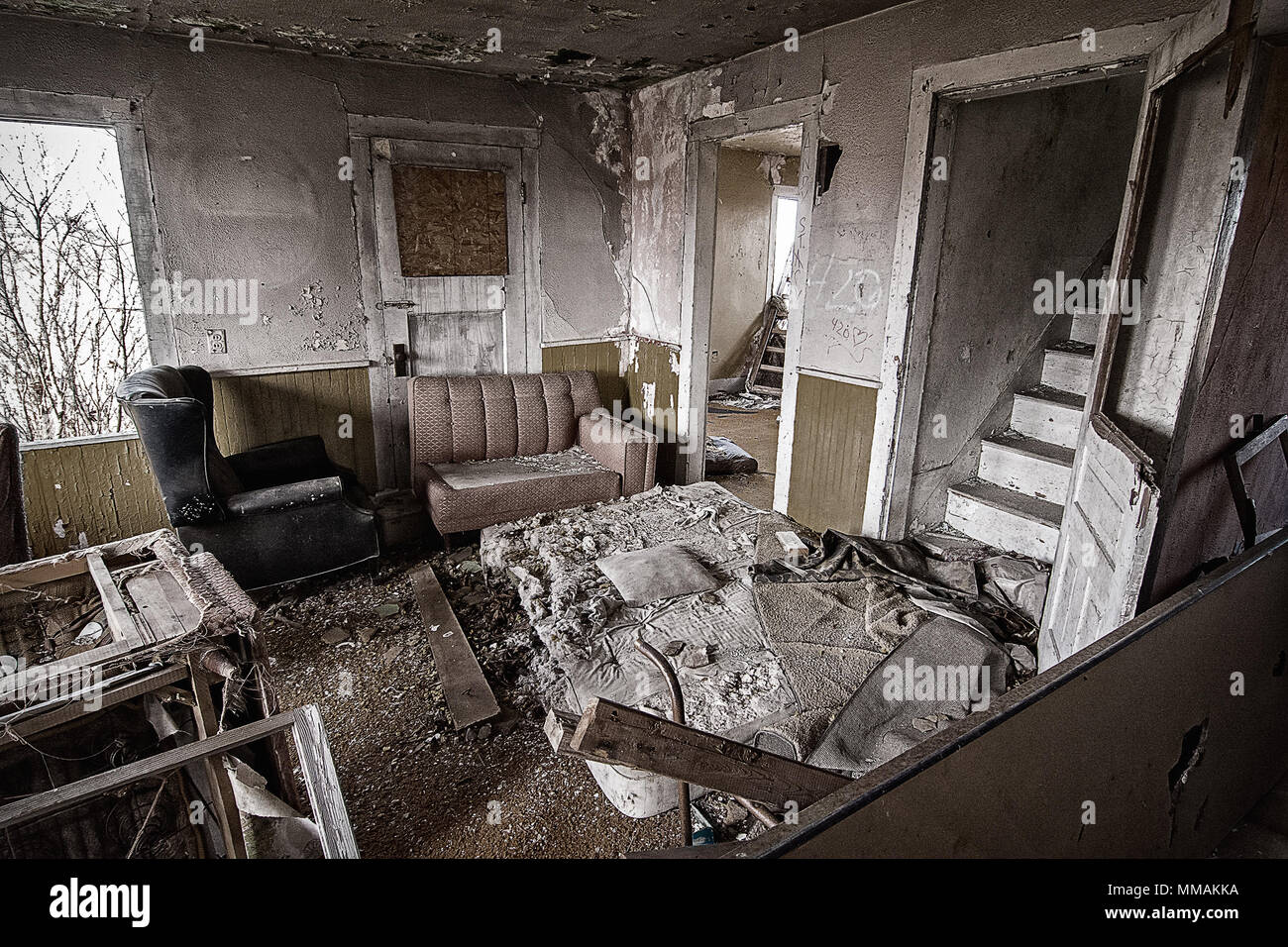 Inside Old Abandoned Farm House Stock Photos & Inside Old ...