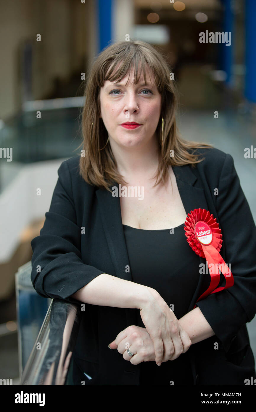 Jess Phillips, MP for Birmingham Yardley. She is at the International Convention Centre in Birmingham in May 2018 for the Local Election count. - Stock Image