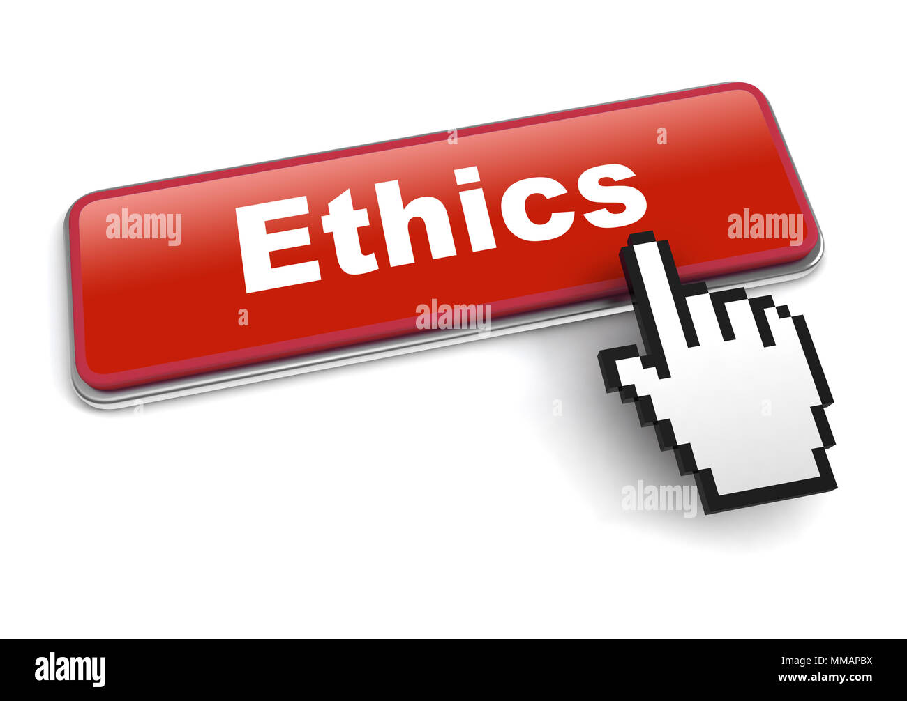 ethics concept 3d illustration isolated - Stock Image