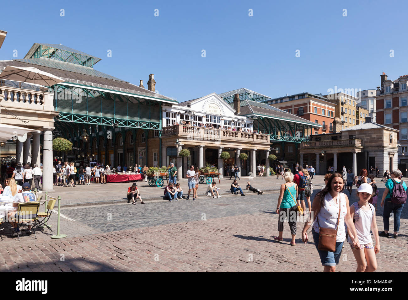 Famous covered markets in Covent Garden. - Stock Image
