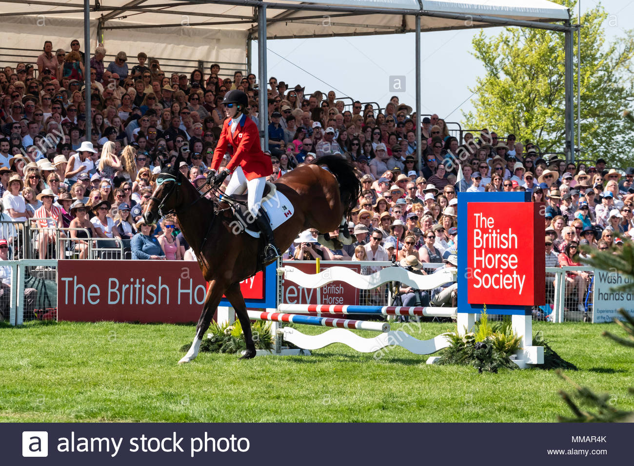 Badminton, Gloucesershire, England, UK. 1st-6th May 2018. The Mitsubishi Motors Badminton Horse Trials. The three-day event, one of only six annual Co - Stock Image