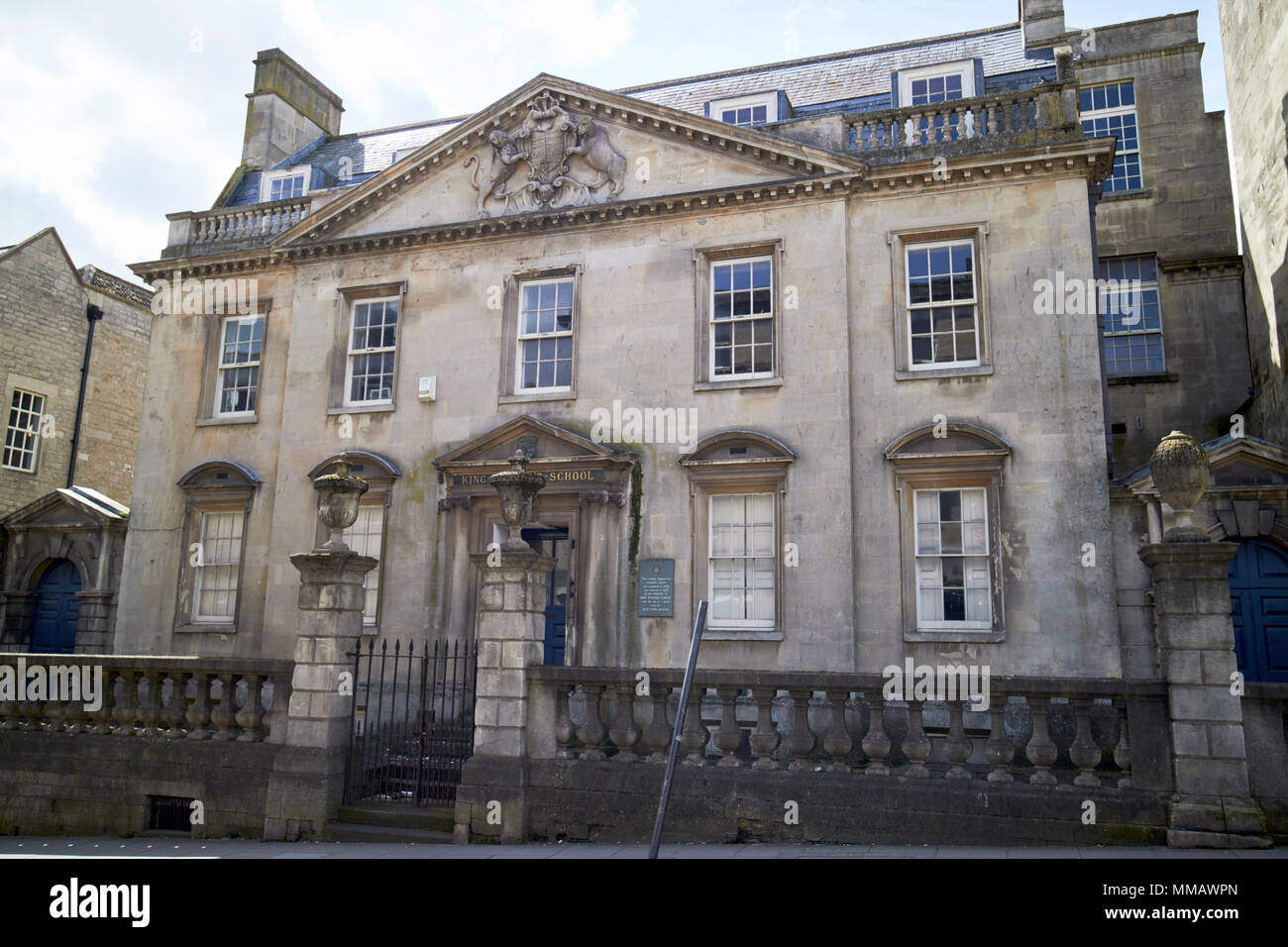 Former King Edwards School original building King Edward VI Grammar school building  Bath England UK - Stock Image