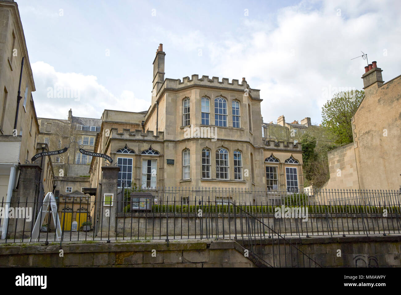 Trinity Presbyterian Church building of bath collection formerly building of bath museum the vineyards Bath England UK. Also known as the Countess of  - Stock Image