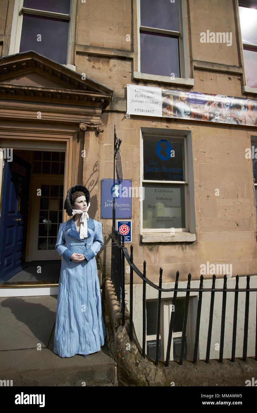 The Jane Austen Centre gay street Bath England UK - Stock Image