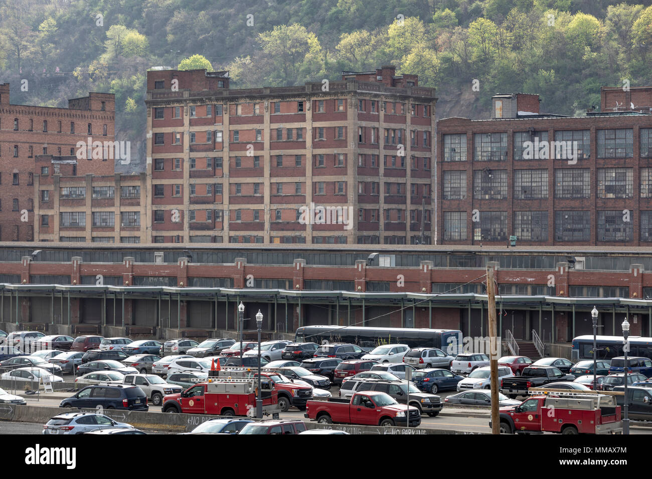 Pennsylvania Railroad Fruit Terminal in the Strip District, Pittsburgh, PA - Stock Image