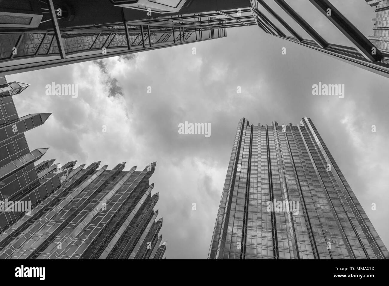 PPG Place, designed by Philip Johnson, in downtown Pittsburgh, PA, USA - Stock Image