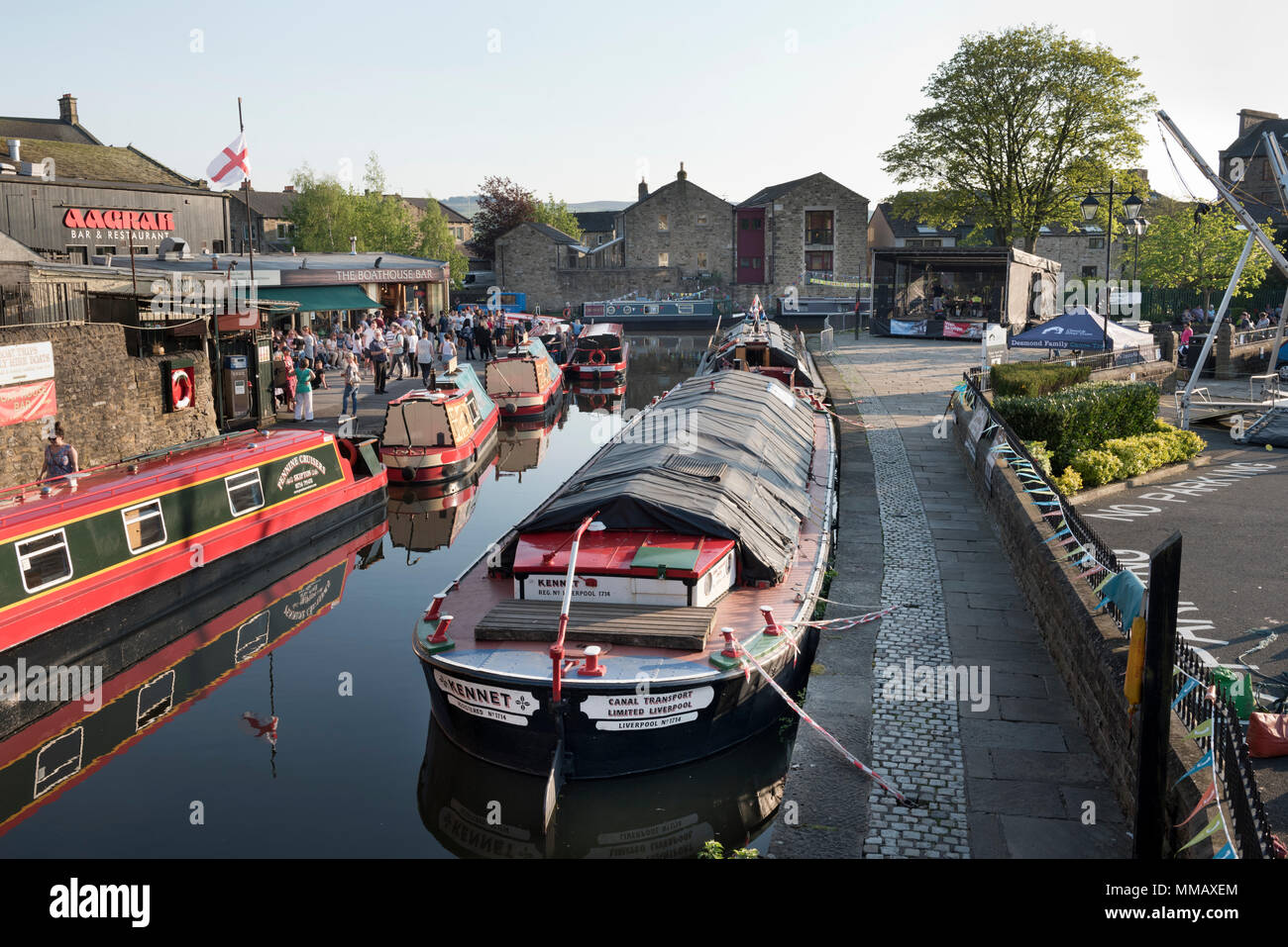 Skipton Waterways Festival, North Yorkshire, May 2018. - Stock Image