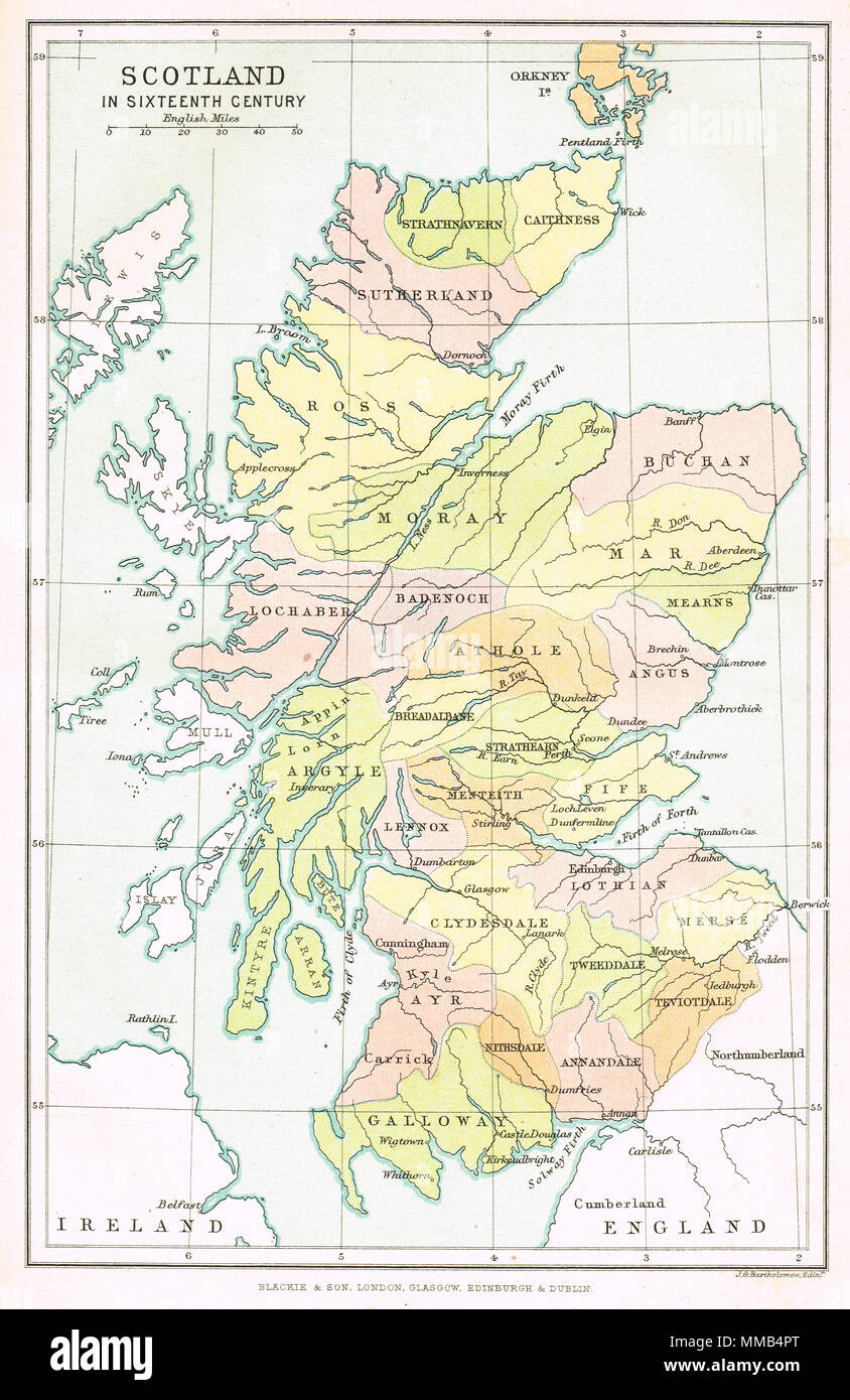 Old Map Scotland Stock Photos & Old Map Scotland Stock Images - Alamy