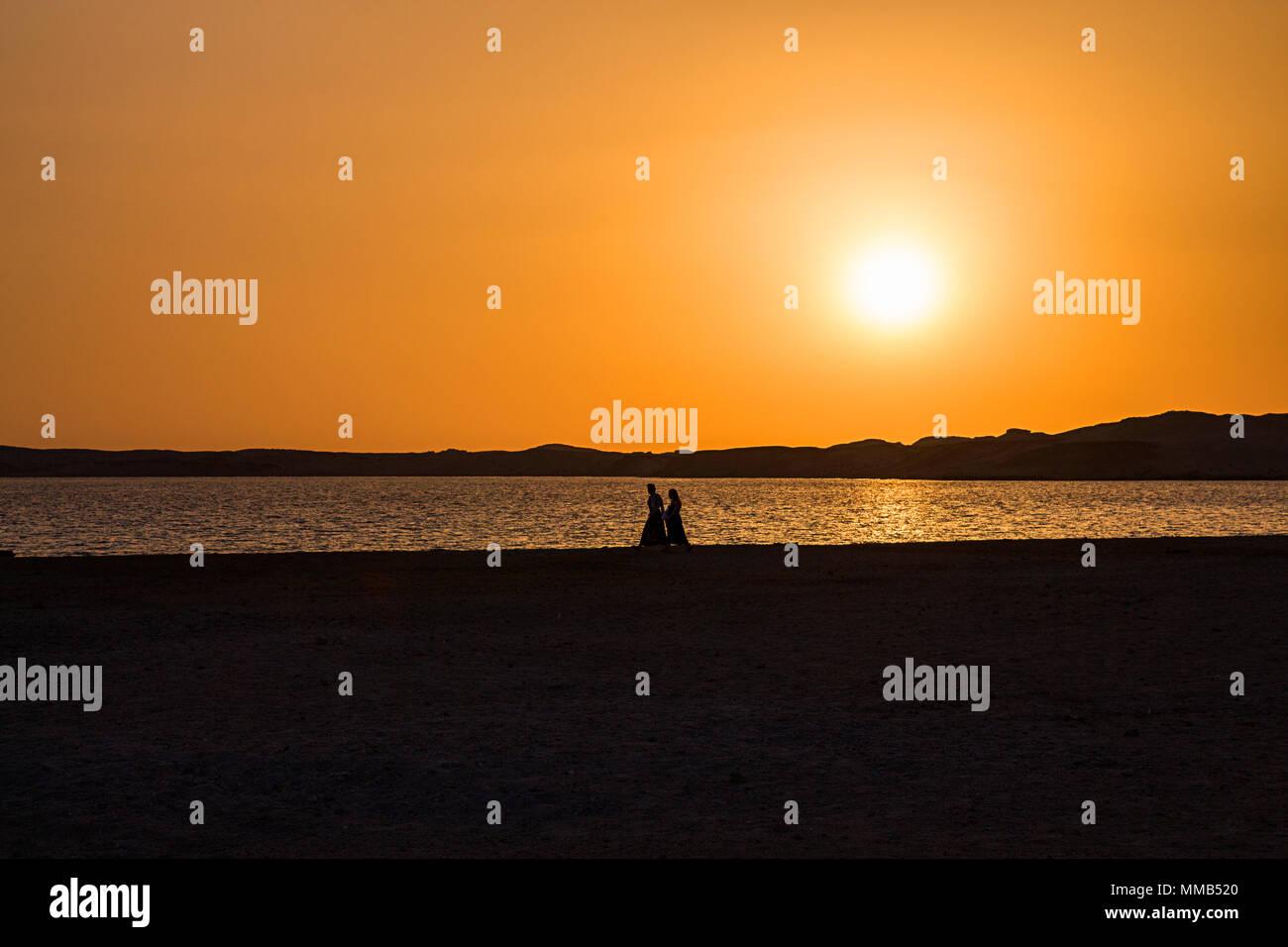 Sunset in Ras Mohammed, Sinai, Egypt - Stock Image