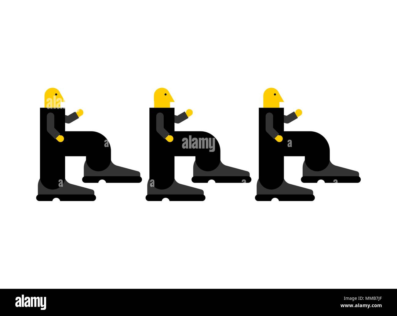 Go to work. Worker steps to work. Manager goes to job. Vector illustration Stock Vector