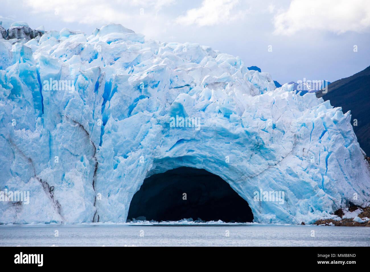 Perito Moreno glacier ice bridge, Patagonia, Argentina - Stock Image