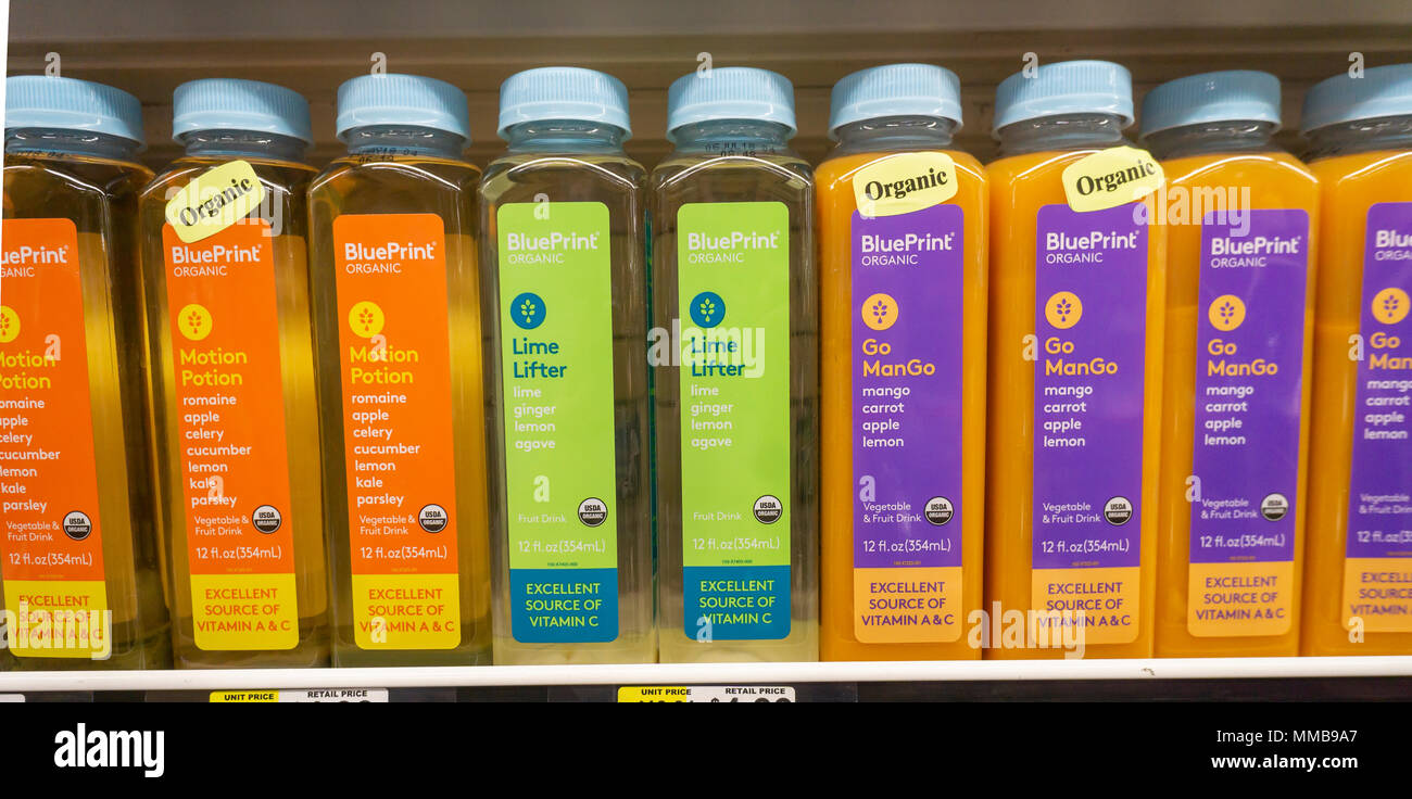 Bottles of blueprint organic vegetable and fruit drinks a brand of bottles of blueprint organic vegetable and fruit drinks a brand of the hain celestial group in a supermarket in new york on tuesday may 8 2018 malvernweather Image collections