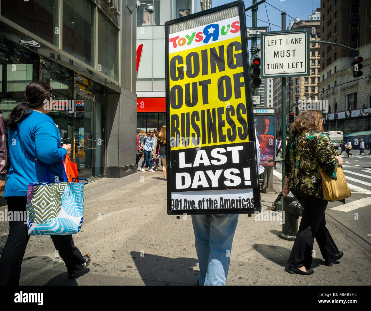 A Worker Walks Sixth Avenue In New York On Wednesday May 9 2018 Wearing