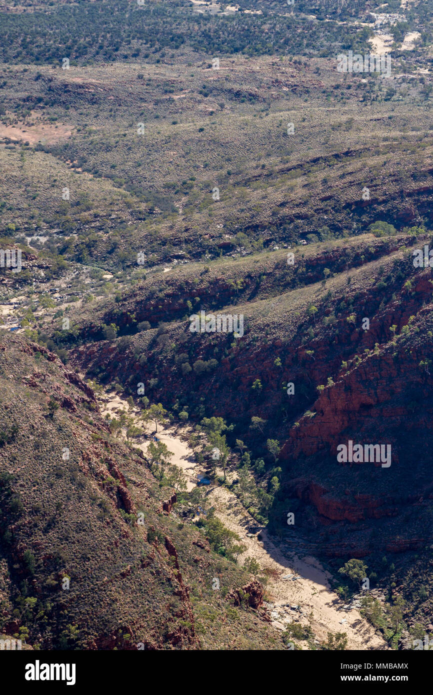 Aerial view of the West MacDonnell Ranges - Stock Image