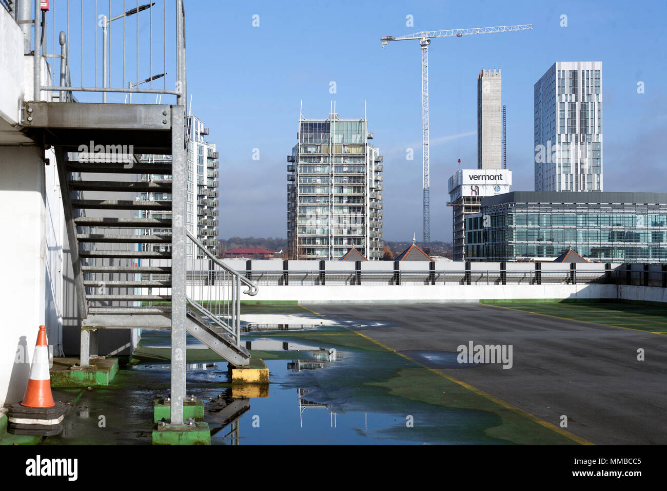 Salfrord Quays from the Top of Multistorey Car Park - Stock Image