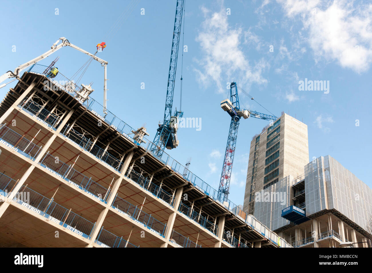 Construction Work Manchester - Stock Image