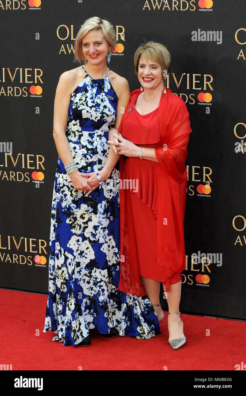 2018 Olivier Awards with Mastercard, held at the Royal Albert Hall in London.  Featuring: Marianne Elliott, Patti LuPone Where: London, United Kingdom When: 08 Apr 2018 Credit: WENN.com - Stock Image